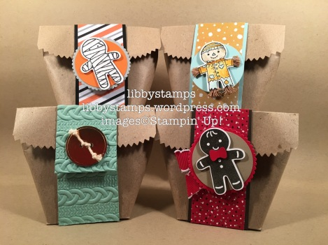libbystamps, stampin up, Tag A Bag Gift Bags, treat bag, Blogging Friends Blog Hop, Cookie Cutter Christmas, Cookie Cutter Halloween, Cookie Cutter Builder Punch, Layering Circles Framelits