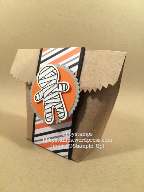 libbystamps, stampin up, Tag A Bag Gift Bags, treat bag, Blogging Friends Blog Hop, Cookie Cutter Halloween, Cookie Cutter Builder Punch, Halloween Night Specialty, Layering Circles Framelits