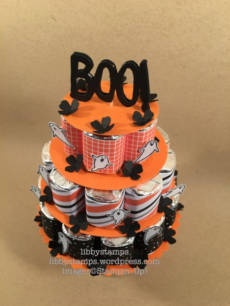 libbystamps, stampin up, nugget cake, Spooky Fun, Halloween Night Specialty, Circles Collection Framelits, Boo To You Framelits, Itty Bitty Accents Punch Pack, nugget cake, Splitcoaststampers
