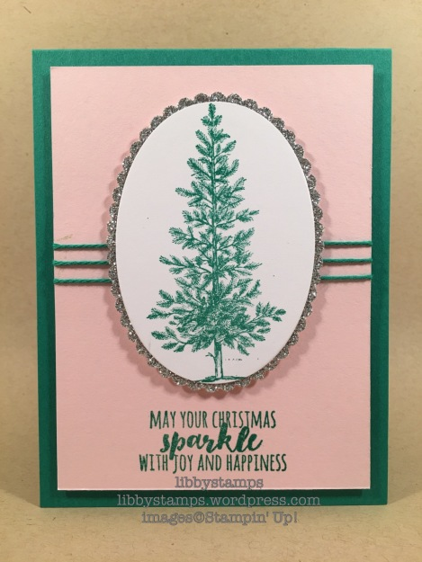 libbystamps, stampin up, Lovely as a Tree, Christmas Pines, Layering Ovals Framelits, BFBH