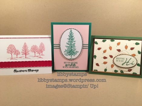 libbystamps, stampin up, Lovely as a Tree, Christmas Pines, Acorny Thanks You, BFBH