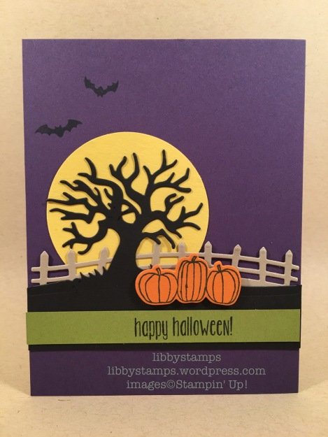 libbystamps, stampin up, Spooky Fun, Halloween Scenes Edgelits, Card Buffet