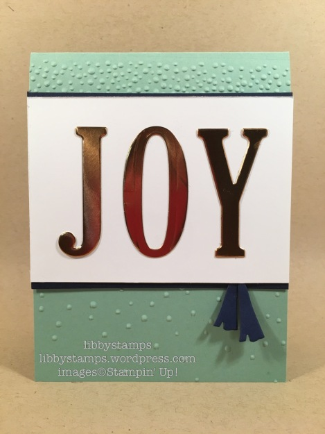libbystamps, stampin up, CCMC432, Copper Foil , Large Letters Framelits, Balloon Framelits, Softly Falling EF