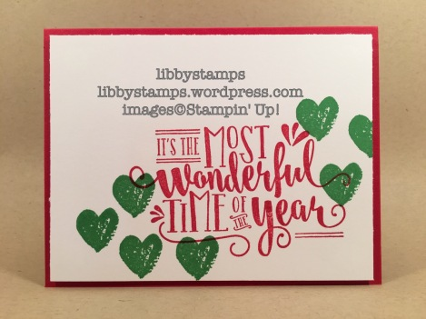 libbystamps, stampin up, Wonderful Year, Work of Art, WWC99, Christmas