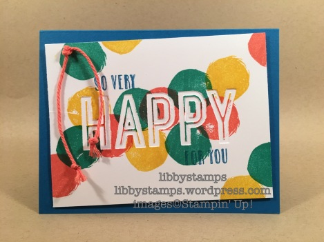 libbystamps, stampin up, Happy Celebrations, Celebrations Duo EF, birthday, BFBH