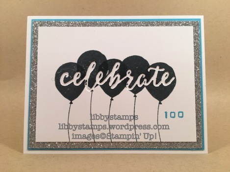 libbystamps, stampin up, WWC100, Celebrations Duo EF, Balloon Celebration