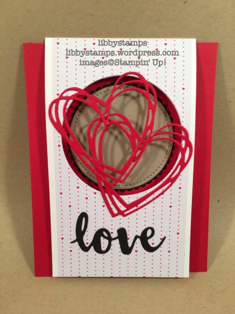 libbystamps, stampin up, CCMC440, Sending Love, Sunshine Wishes Thinlits, Layering Circles Framelits
