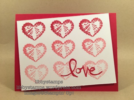 libbystamps, stampin up, Tie Dyed, Watercolor Words, Occasions 2017, WWC102, love, Valentine's Day