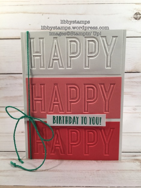 libbystamps, stampin up, Happy Celebrations, Celebrations Duo EF, birthday card, Occasions Mini 2017