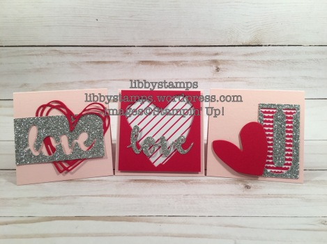 libbystamps, stampin up, Sunshine Wishes Thinlits, Large Letters Framelits, Silver Glimmer Paper, Sending Love DSP, BFBH, 3x3, love notes