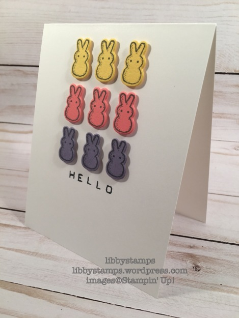 libbystamps, stampin up, Basket Bunch, Basket Builder, Labeler Alphabet, Peeps, Freshly Made Sketches, FSM273, hello