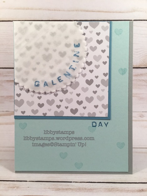 libbystamps, stampin up, Labeler Alphabet, Layering Circles Framelits, A Little Foxy DSP, Sending Love Glassine Sheets, Galentine's Day, #tgifc94