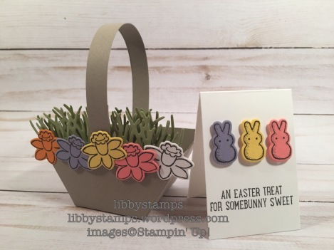 libbystamps, stampin up, occasions 2017, Basket Bunch, Basket Builder Framelits, Window Box Thinlits, Easter, basket, Wacky Watercooler Blog Hop