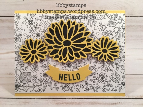 libbystamps, stampin up, Any Occasion, Stylish Stems Framelits, Duet Banner Punch, Inside The Lines DSP, Sale-a-Bration 2017, SAB, Occasions 2017, TSOT#313
