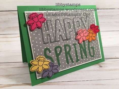 libbystamps, stampin up, Happy Celebrations, Layered Alphabet Stamp Set, Basket Bunch, Basket Builder Framelits, Basket Bunch Bundle, Carried Away DSP, Spring