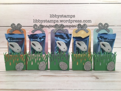 libbystamps, stampin up, Basket Builder Framelits, Easter Treats, Ghirardelli, tutorial