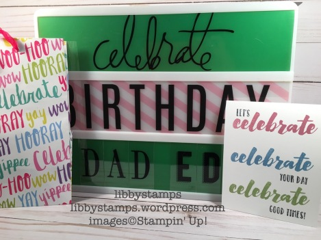 libbystamps, stampin up, Happy Celebrations, quick & easy card, birthday
