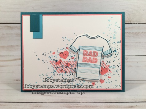 libbystamps, stampin up, Custom Tee, Gorgeous Grunge, Perpetual Birthday Calendar, T-Shirt Builder Framelits, Custom Tee Bundle, CCMC454