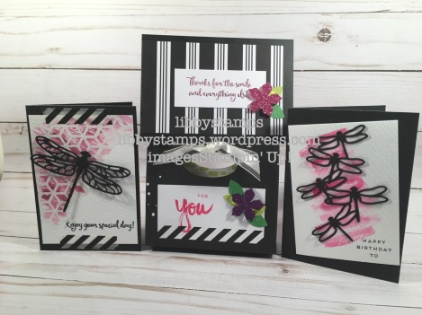 libbystamps, stampin up, Paper Pumpkin, It's a Sara Thing, Dragonfly Dreams Bundle, Detailed Dragonfly Thinlits, Dragonfly Dreams, watercoloring, envelope gift bag
