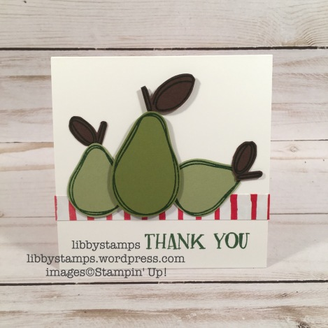 libbystamps, stampin up, Fresh Fruit, Fruit Stand DSP, pears