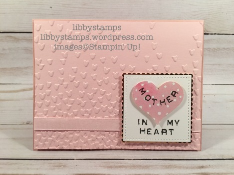 libbystamps, stampin up, Labeler Alphabet, Layering Squares Framelits, Stitched Shapes Framelits, Fruit Stand DSP, Sweetheart Punch, Copper Foil Sheets, Falling Petals EF, WWC118
