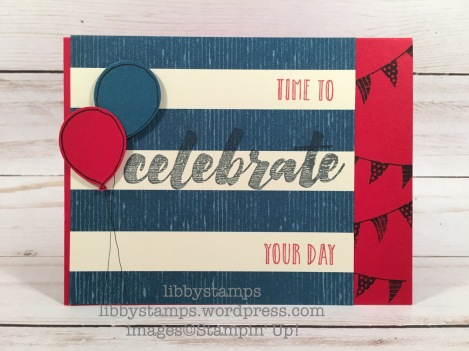 libbystamps, stampin up, Celebrate Today, Happy Celebrations, By the Shore DSP, Balloon Bouquet Punch