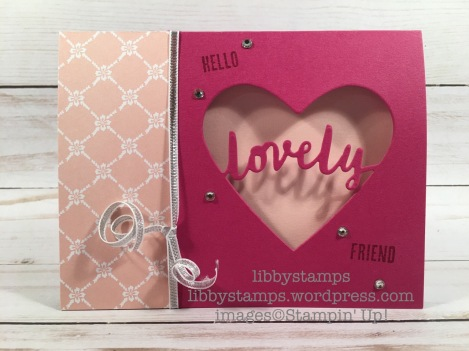libbystamps, stampin up, BFBH, Wood Words, Lovely Words Thinlits, Fresh Florals DSP