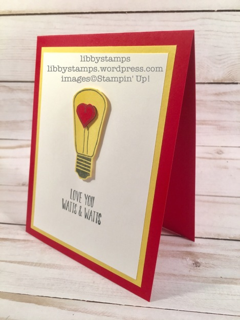 libbystamps, stampin up, Watts of Occasions. lightbulb, 2017 catalog