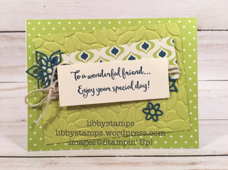 libbystamps, stampin up, Dragonfly Dreams, Flourish Thinlits, Eastern Palace Specialty DSP, Petal Burst  EF