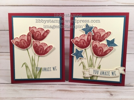 libbystamps, stampin up, Tranquil Tulips, Banners for You, Bunch of Banners Framelits, We Create