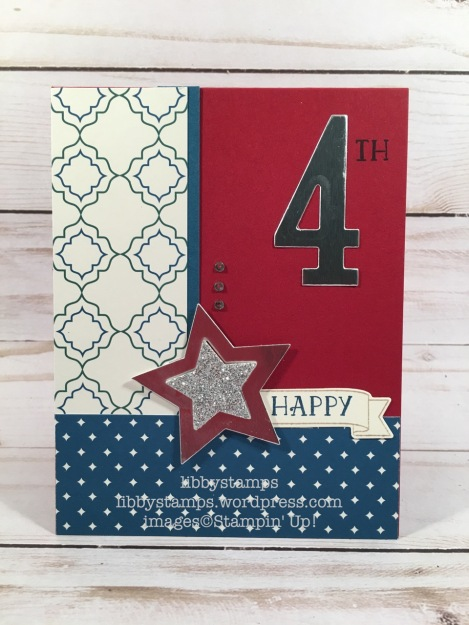 libbystamps, stampin up, Number of Years, Large Number Framelits, Stars Framelits, Eastern Palace Specialty DSP