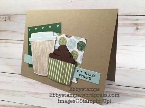 libbystamps, stampin up, CCMC, Coffee Cafe, Oh So Eclectic, Coffee Cafe Bundle, Coffee Cups Framelits, Coffee Break DSP