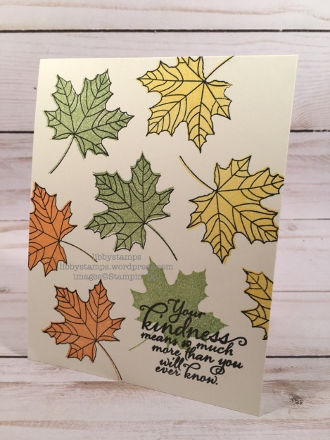 libbystamps, stampin up, Colorful Seasons, Painted Harvest, CCMC, one layer card