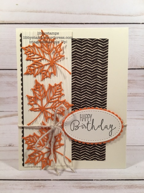 libbystamps, stampin up, Seasonal Layers Thinlits, Special Celebration, Painted Autumn DSP, Woodgrain EF, fall