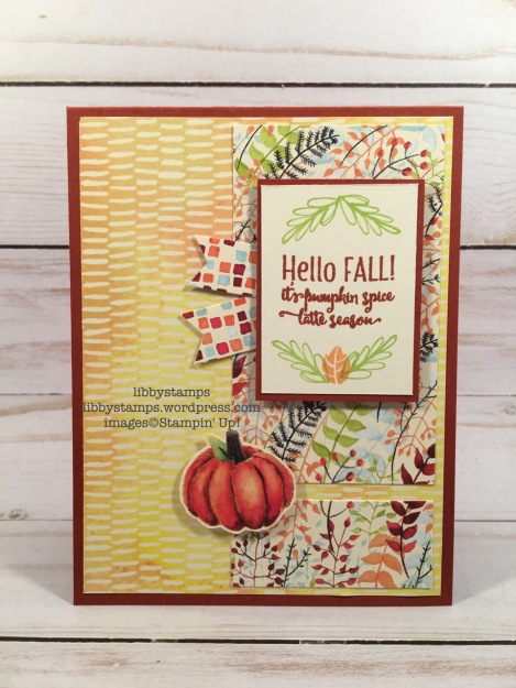 libbystamps, stampin up, Merry Cafe, Painted Autumn  DSP, TSOT, fall