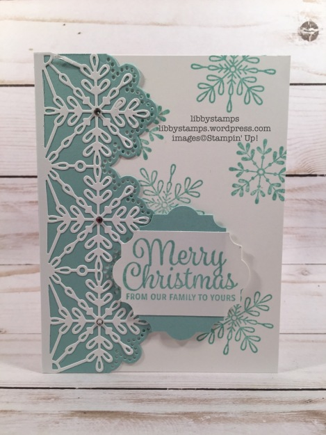 libbystamps, stampin up, Snowflake Sentiments, Swirly Snowflakes, Snowflake Sentiments Bundle, Everyday Label Punch