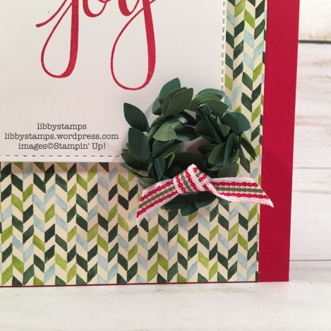 libbystamps, stampin up, Boxwood Wreaths Embellishments, Quilted Christmas 1/4 Ribbon, FMS311