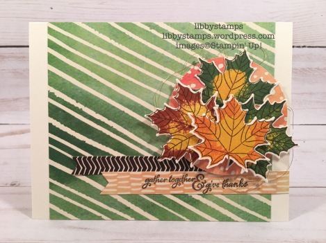 libbystamps, stampin up, Painted Harvest, Layering Circles Framelits, Painted Autumn DSP, Colorful Season, Seasonal Layers Thinlits, Gold Metallic Thread, CCMC