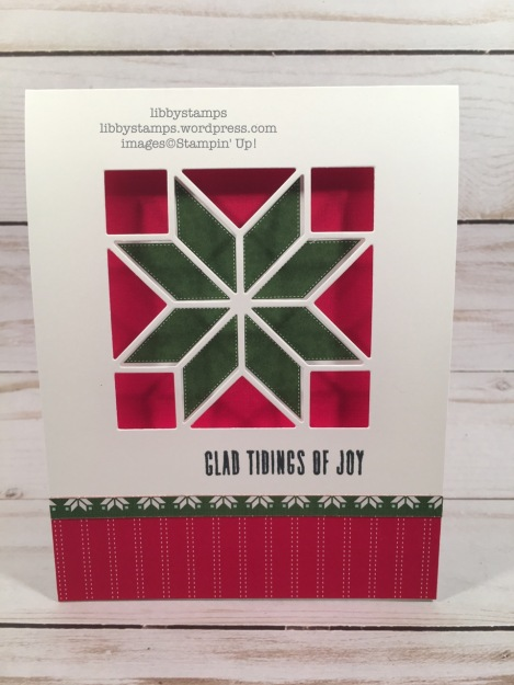 libbystamps, stampin up, Pinning for Plaid, Quilt Builder, Quilted Christmas 6x6 DSP, CCMC