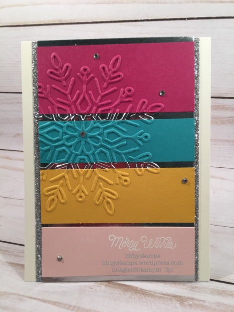 libbystamps, stampin up, Oh What Fun, Winter Wonder EF, CCMC, Silver Glimmer Paper, Silver Foil