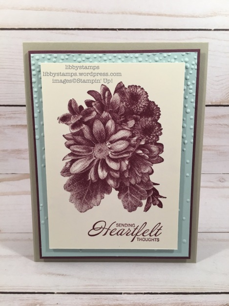 libbystamps, stampin up, Heartfelt Blooms, Softly Falling EF, CCMC, Sale-a-bration 2018