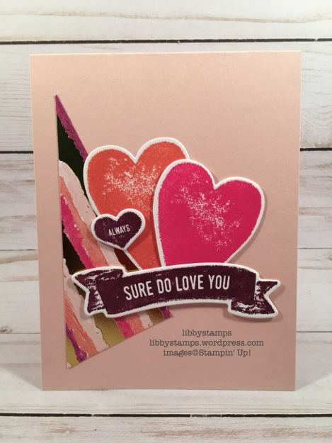 libbystamps, stampin up. CCMC, Lots to Love Box Framelits, Sure Do Love You, Sure Do Love You Bundle