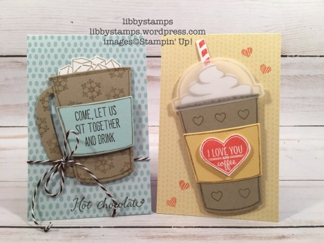 libbystamps, stampin up, BFBH, Balloon Celebration, Coffee Cafe, Merry Cafe, Coffee Cup Framelits, Coffee Cafe Bundle, Tutti-frutti Cards & Envelopes