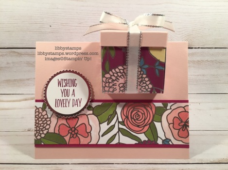 libbystamps, stampin up, Lovely Wishes, Layering Circles, Sweet Soiree DSP, Silver 3/8 Metallic Edge Ribbon, CCMC