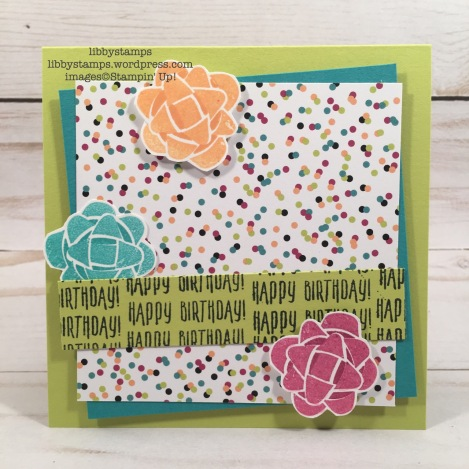 libbystamps, stampin up, Picture Perfect Birthday, Picture Perfect Party 6x6 DSP, CCMC