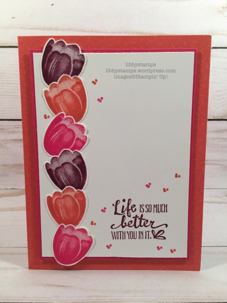 libbystamps, stampin up, Tranquil Tulips, Tutti- Frutti Cards & Envelopes, CCMC, Sale-a-bration