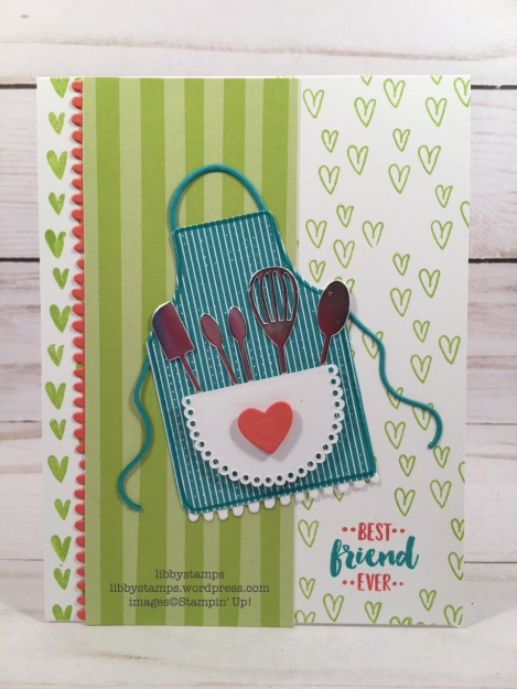 libbystamps, stampin up, Apron of Love, Yay You, Apron Builder framelits, Apron of Love Bundle, Bubbles & Fizz DSP, Tutti-Frutti Cards & Envelopes, CCMC