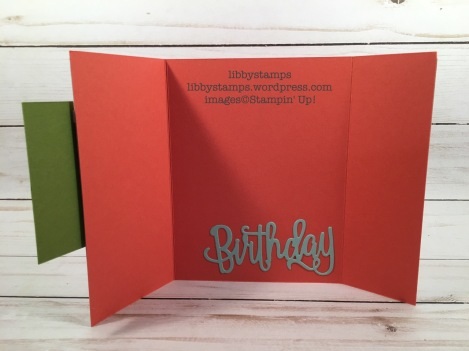 libbystamps, stampin up, Happy BirthdayThinlits, Petal Garden, gate fold, TSOT
