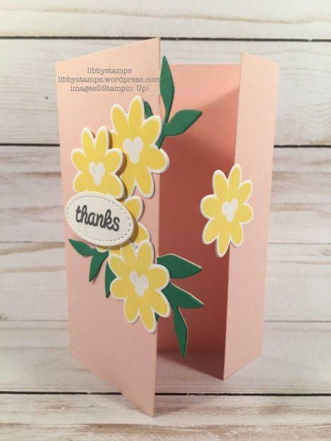 libbystamps, stampin up, libbystamps, stampin up, Bouquet Blooms, Bouquet Blooms, Gatefold Blossoms Framelits, Stitched Framelits, CCMC, blog hop